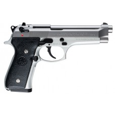 """Beretta USA JS92F520 92 Single/Double 9mm 4.9"""" 10+1 Black Synthetic Grip Stainless Steel"""