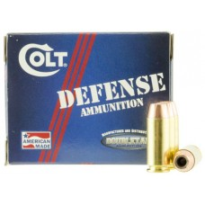 Colt Ammo 10M180CT Defense 10mm Automatic 180 GR JHP 20 Bx/ 50 Cs