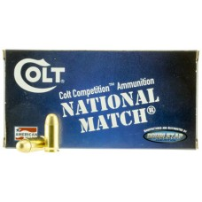 Colt Ammo 45A230FMJCT National Match 45 ACP 230 GR FMJ 50 Bx/ 20 Cs