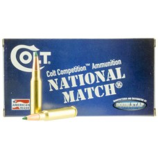 Colt Ammo 308W155CT National Match 308 Win/7.62 NATO 155 GR Match 20 Bx/ 50 Cs