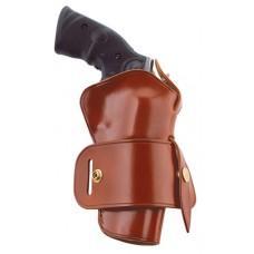 """Galco WG126 Wheelgunner Belt Ruger Redhawk 4"""" Tan  Ruger RedHawk Saddle Leather"""