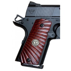 Wilson 351MCP Compact 1911 Grips Cocobolo w/Starburst Pattern Inset Medallion