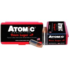 Atomic 00454 Defense 9mm +P Luger 124 GR Bonded MHP 20 Bx/ 10 Cs