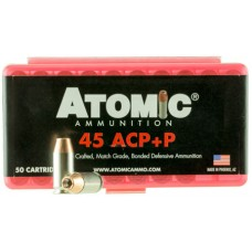 Atomic 00412 Defense 45 ACP +P 185 GR Bonded MHP 50 Bx/ 10 Cs