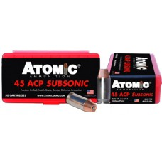 Atomic 00439 Subsonic 45 ACP 250 GR SubSonic 50 Bx/ 10 Cs