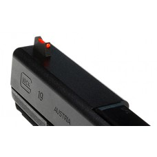 Wilson 688FOR245 Vickers Elite Snag Free Front Red Fiber Optic Glock 9/40 Black