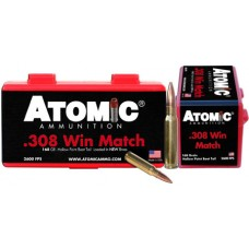 Atomic 00426 Match 308 Winchester/7.62 NATO 168 GR Tipped MatchKing 50 Bx/ 10 Cs