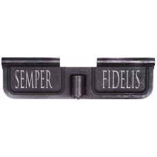 Spike SED7008 Ejection Port Door AR-15 Laser-Engraved Semper Fidelis Steel Black