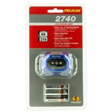 Pelican  2740 Headlamp Gen 2 66 Lumens AAA (3) Blue
