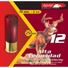 "Aguila 1C1200BA  Field High Velocity 12 Gauge 2.75""  1 oz 0 Buck 25 Bx/ 10 Cs"