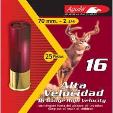 "Aguila 1C1601BA  Field High Velocity 16 Gauge 2.75""  1-1/8 oz 1 Buck 25 Bx/ 10 Cs"