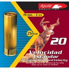 "Aguila 1C2014FA Hunting 20 Gauge 2.75""  2-3/4 oz 3 Buck 25 Bx/ 10 Cs"