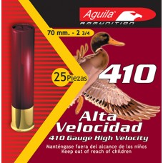 "Aguila 1C41006A Hunting High Velocity 410 Gauge 2.5"" 1/2 oz 6 Shot 25 Bx/ 20"