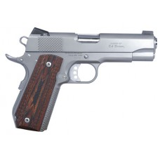 "Ed Brown KCSSCAL2 Kobra Single 45 ACP 4.25"" 7+1 Laminate Wood Grip Stainless"