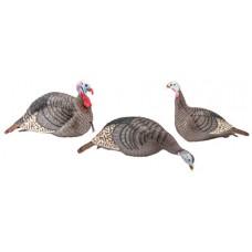Hunters Specialties 100006 Strut-Lite Turkey Flock Decoy 3 Pack