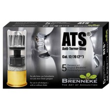 "Brenneke SL122ATS Anti Terror 12 Gauge 2.75"" 1 oz Slug Shot 5 Bx/ 40 Cs"