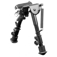 Aim Sports BPHS01 H-Style Bipod Black Aluminum and Carbon Steel 6.5-9""