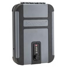 "Snap Safe 75241 Lockbox Security Safe Black/Gray 10"" x 7"" x 2"" TSA Combination Lock"