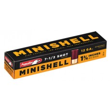 "Aguila  Minishell 12 Gauge 1.75"" 5/8 oz 7.5 Shot 20 Bx/ 25"