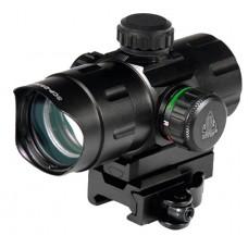 UTG SCP-DS3840W CBQ Dot 1x 32.5mm Obj Unlimited Eye Relief 4 MOA Black