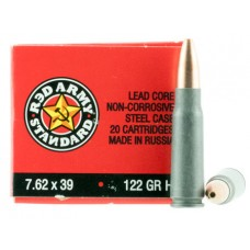 Red Army Standard  7.62X39mm 122 GR Hollow Point 180 Bx/ 5 Cs