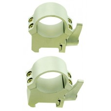 """Leupold 49859 Quick Release Ring Set 1"""" Dia High Silver"""
