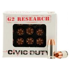 G2 Research CIVIC 380 Civic Duty 380 Automatic Colt Pistol (ACP) 64 GR Copper Expansion Projectile 20 Bx/ 25 Cs