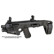 Command Arms  MICRONISTAB17 Micro Roni Stabilizer Glock 17/22/31 Gen 3/4 Polymer/Aluminum Black