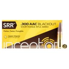PolyCase Ammo 300SRRBLK50 Inceptor 300 AAC Blackout/Whisper (7.62x35mm) 88 GR Round Nose 50 Bx/ 10 Cs