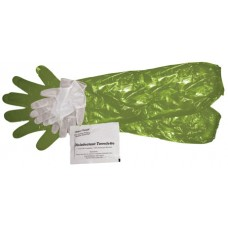 HME HMEGCG4 Game Cleaning Gloves Shoulder-Length Green 4 Pack
