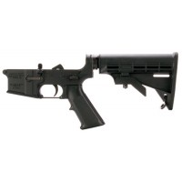 DPMS LR05AP4 Assembled Lower AP4 Stock AR-15 Platform 223 Remington/5.56 NATO Black Hardcoat Anodized