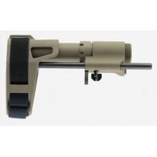 "SB Tactical PDW-02-SB PDW AR-15 Brace FDE Elasto-Polymer 6.75""-9.375"" L"