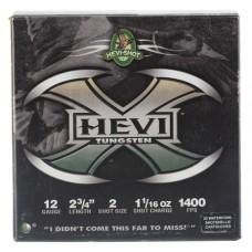 "Hevishot 50272 Hevi-X Waterfowl 12 Gauge 2.75"" 1-1/16 oz 2 Shot 25 Bx/ 10 Cs"