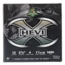 "Hevishot 50274 Hevi-X Waterfowl 12 Gauge 2.75"" 1-1/16 oz 4 Shot 25 Bx/ 10 Cs"