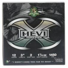 "Hevishot 50302 Hevi-X Waterfowl 12 Gauge 3"" 1-1/4 oz 2 Shot 25 Bx/ 10 Cs"