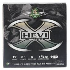 "Hevishot 50304 Hevi-X Waterfowl 12 Gauge 3"" 1-1/4 oz 4 Shot 25 Bx/ 10 Cs"