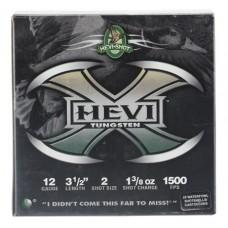 "Hevishot 50352 Hevi-X Waterfowl 12 Gauge 3.5"" 1-3/8 oz 2 Shot 25 Bx/ 10 Cs"