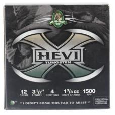 "Hevishot 50354 Hevi-X Waterfowl 12 Gauge 3.5"" 1-3/8 oz 4 Shot 25 Bx/ 10 Cs"