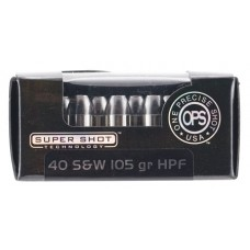 Ammo Inc 40105HPF OPS 40 Smith & Wesson (S&W) 105 GR Hollow Point 20 Bx/ 10 Cs