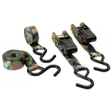 "HME HMERS4PK Camouflage Ratchet Tie Down Strap 1""x8'' Polyester Camouflage 4 Pac"