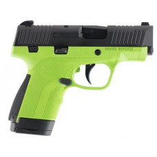 """Honor Defense HG9SCAG Honor Guard Sub-Compact Double 9mm Luger 3.2"""" 7+1/8+1 Acid Green Interchangeable Backstrap Grip Black Stainless Steel"""