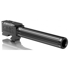 """CMC Triggers 75512 Match Precision Fluted Barrel compatible with Glock 17 Gen 3&4 9mm 4.48"""" 416R Stainless Steel Black"""