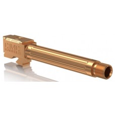 """CMC Triggers 75513 Match Precision Fluted Barrel compatible with Glock 17 Gen 3&4 9mm 4.48"""" TB 416R Stainless Steel Bronze"""