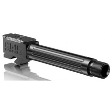"""CMC Triggers 75521 Match Precision Fluted Barrel compatible with Glock 19 Gen 3&4 9mm 4.01"""" TB 416R Stainless Steel Black"""