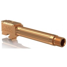 """CMC Triggers 75523 Match Precision Fluted Barrel compatible with Glock 19 Gen 3&4 9mm TB 4.01"""" 416R Stainless Steel Bronze"""