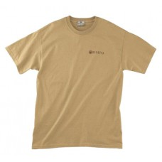Beretta USA TRIDENT T-Shirt Trident Logo Adult Cotton Large Tan