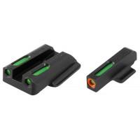 Truglo TG13RS2PC TFX PRO Ruger LC Tritium/Fiber Optic Green w/Orange Outline Front  Green Rear Black