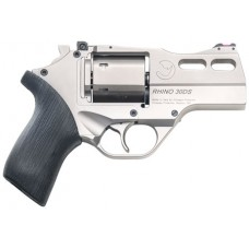 "Chiappa Firearms 340290 Rhino 30DS Single/Double 357 Magnum 3"" 6 rd Black Rubber Grip Nickel"