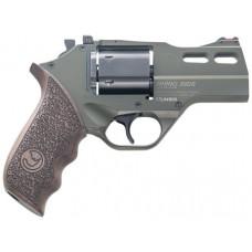 "Chiappa Firearms 340285 Rhino 30DS Single/Double 357 Magnum 3"" 6 rd Walnut Grip OD Green"