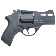 "Chiappa Firearms CF340289 Rhino 30SAR Single 357 Magnum 3"" 6 rd Black Rubber Grip Black"